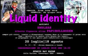 LIQUID IDENTITY – B&V KAYAK SPACE  from 20 July till 18 August 2018