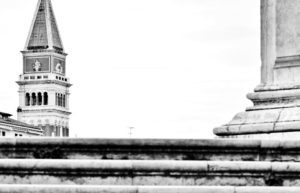 September 12th at 10.30 a.m.: Venice top to bottom, the two bell towers: St. Mark and St. Giorgio Maggiore